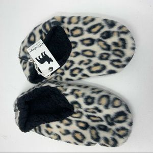 NWT PJ Salvage Leopard Print Slippers Medium